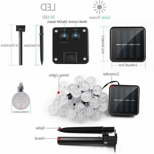 Solar String Waterproof Warm White Decor