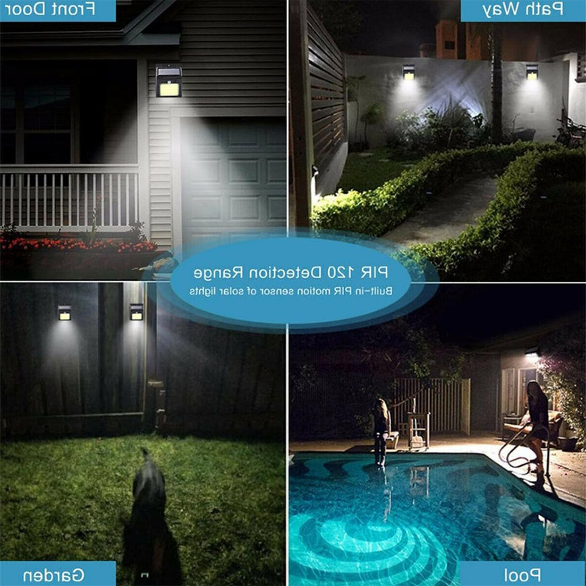 Outdoor Wall PIR Motion Sensor Garden Path Lamp