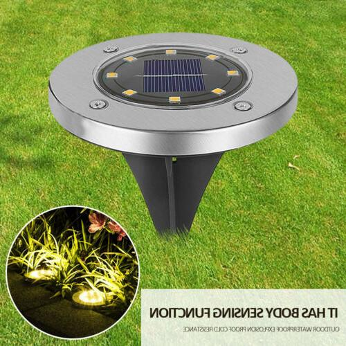 solar in ground lights 8led solar powered