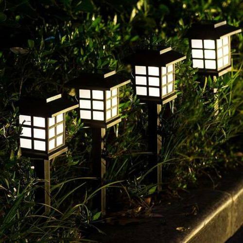 4 Pack Outdoor Garden Solar Power Pathway Lights Landscape L