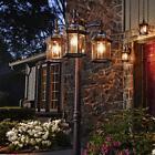 Portfolio Outdoor Lamp Post Light Fixture - 3 Lights Lantern