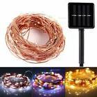 outdoor solar copper wire light flexible 10m