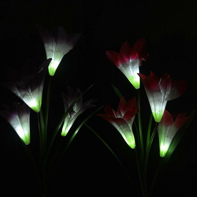 Outdoor Solar Garden Lights Flowers