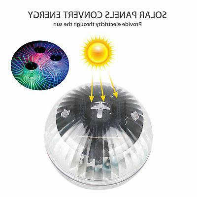 Outdoor Solar Lights Pool Lamp Rotating Color