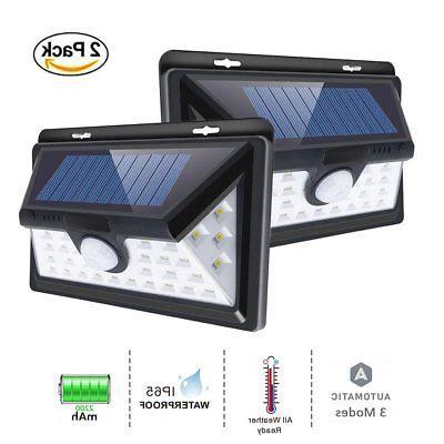 Outdoor Solar Lights 34 LED, Ultra High Brightness Wide Angl