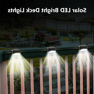 4Pcs Solar Deck Lights Outdoor Lamp