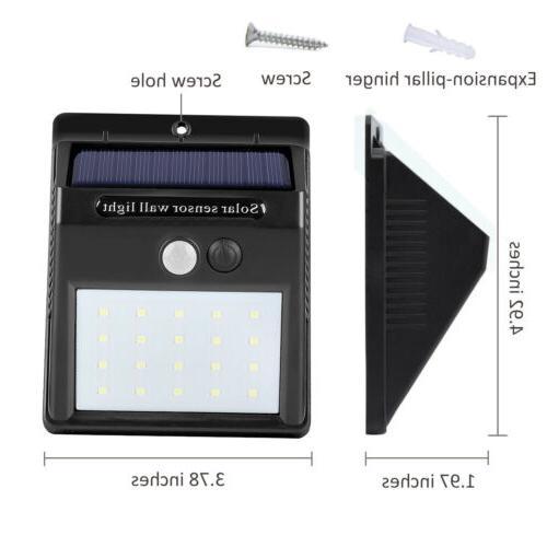 20 Solar Lights Motion Light Outdoor Garden Waterproof