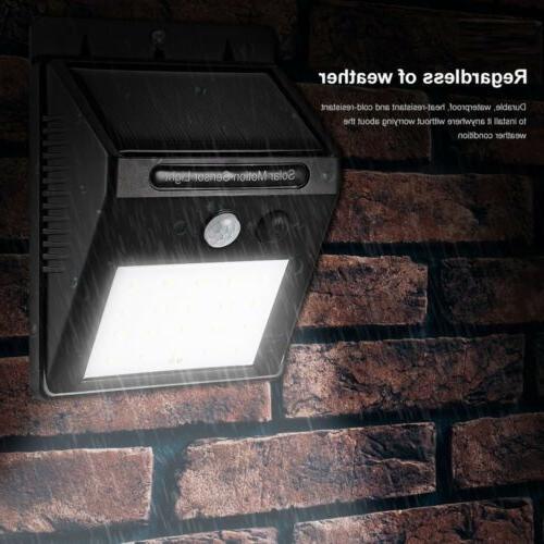 Outdoor Sensor Wall Waterproof Garden Yard Lamp 20 LED