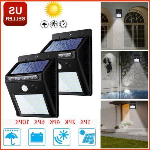 outdoor solar lights motion sensor wall light