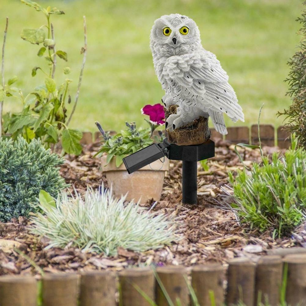 Outdoor Power Lights Owl Decor Lawn Light