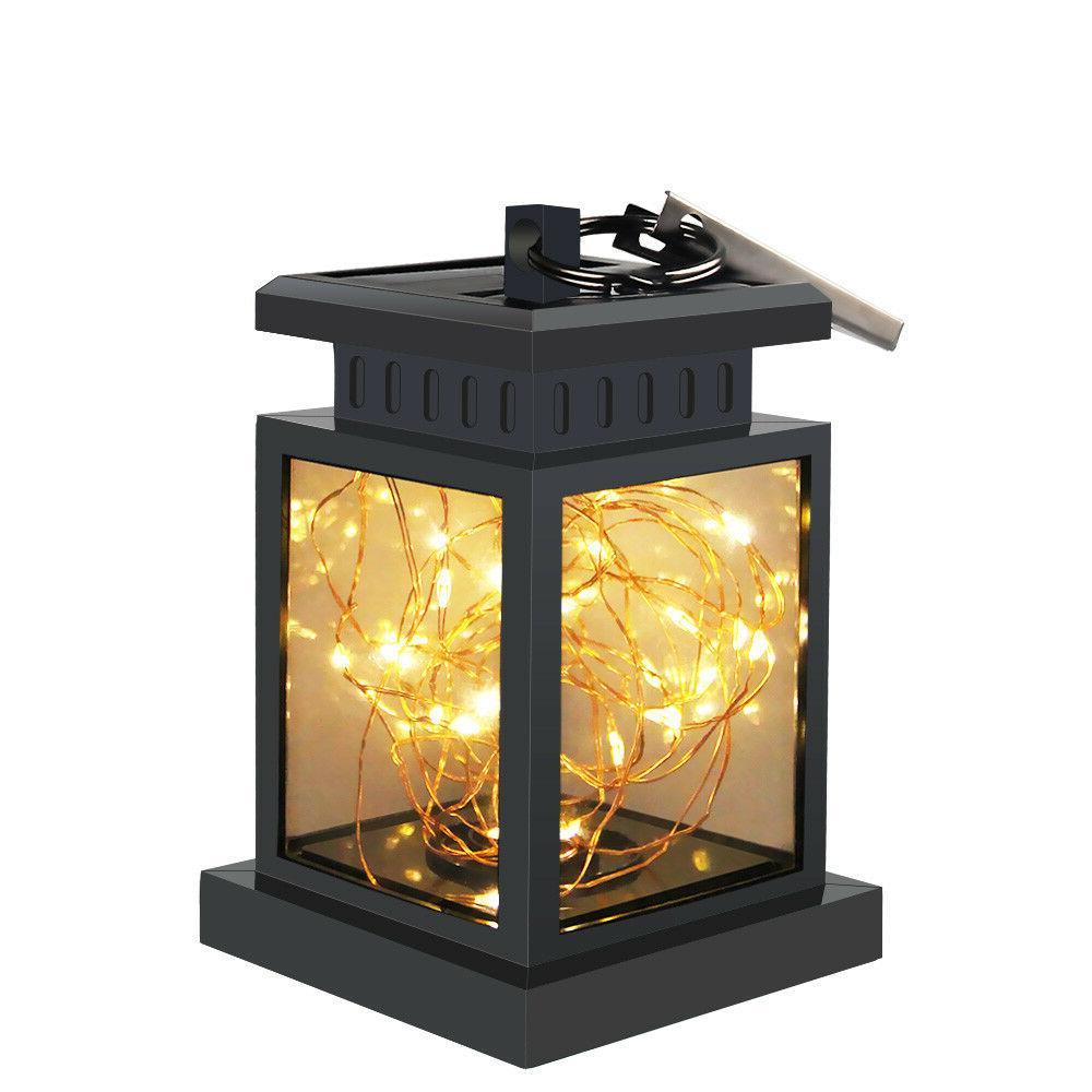 Solar Powered LED Garden Umbrella Lantern Hanging Light Wate