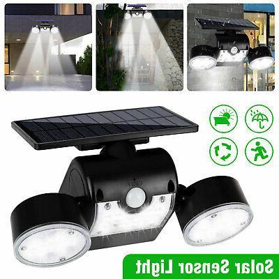 outdoor solar power motion sensor lights garden