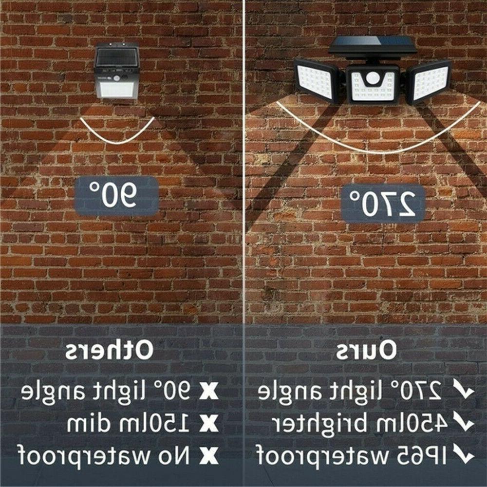 Solar Lights Spotlight Bright LED Sensor Light