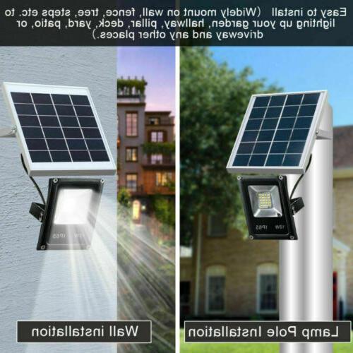 outdoor solar spot led lights sensor flood