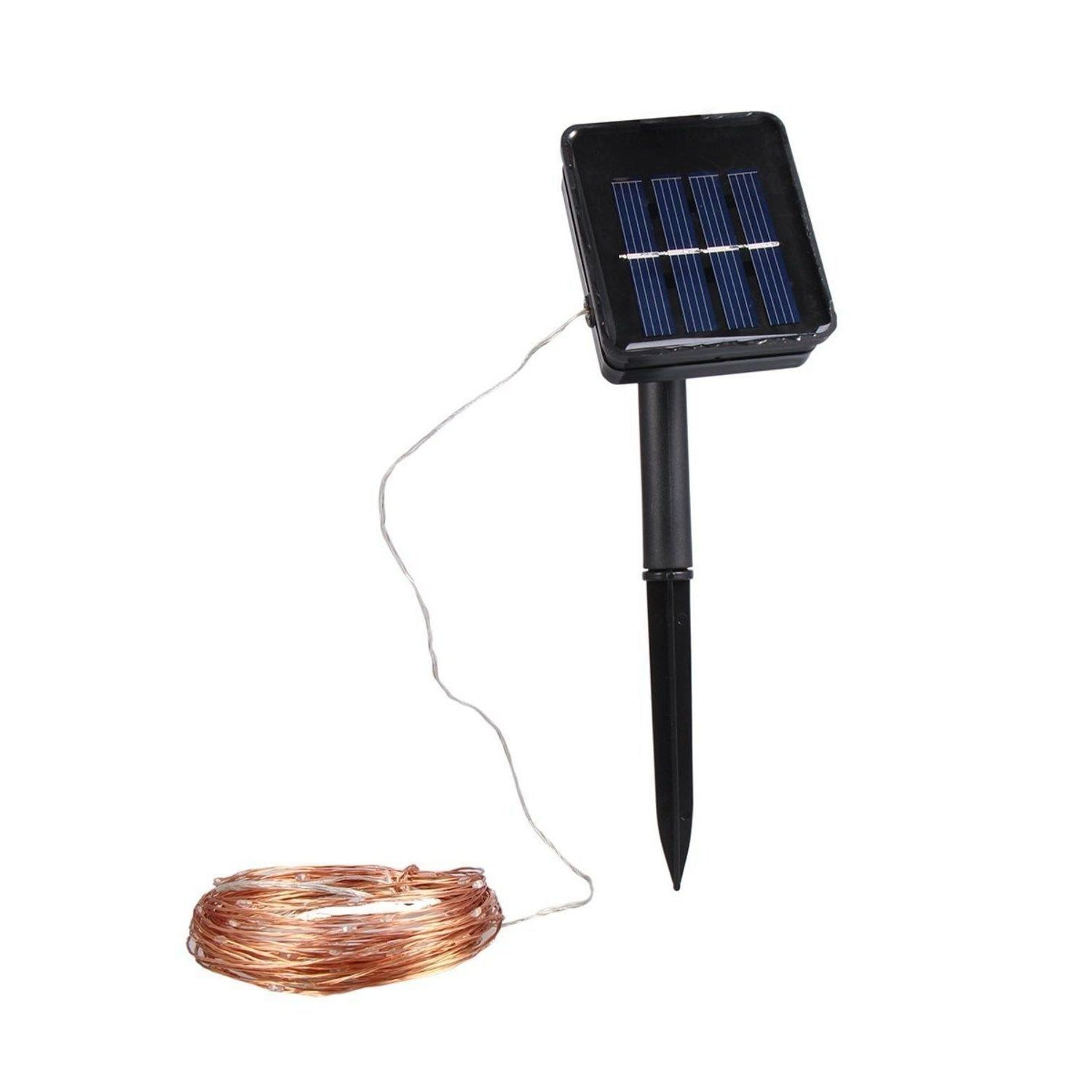 Outdoor Solar 100 Wire White