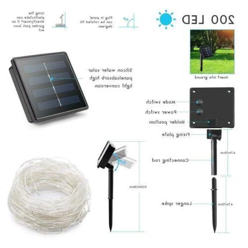 Outdoor Solar Waterproof LED Copper Light String