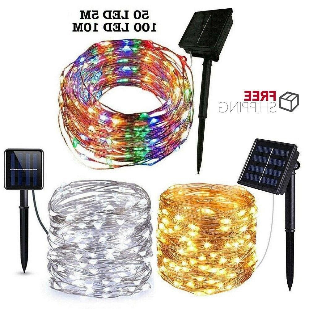 outdoor solar string lights waterproof 5m10m 50