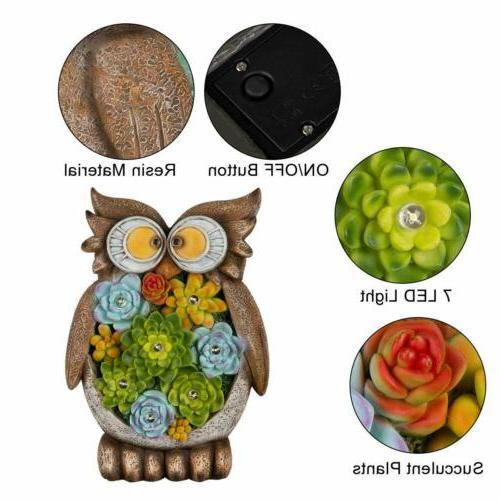 GIGALUMI Owl Garden Solar 7LED Decor