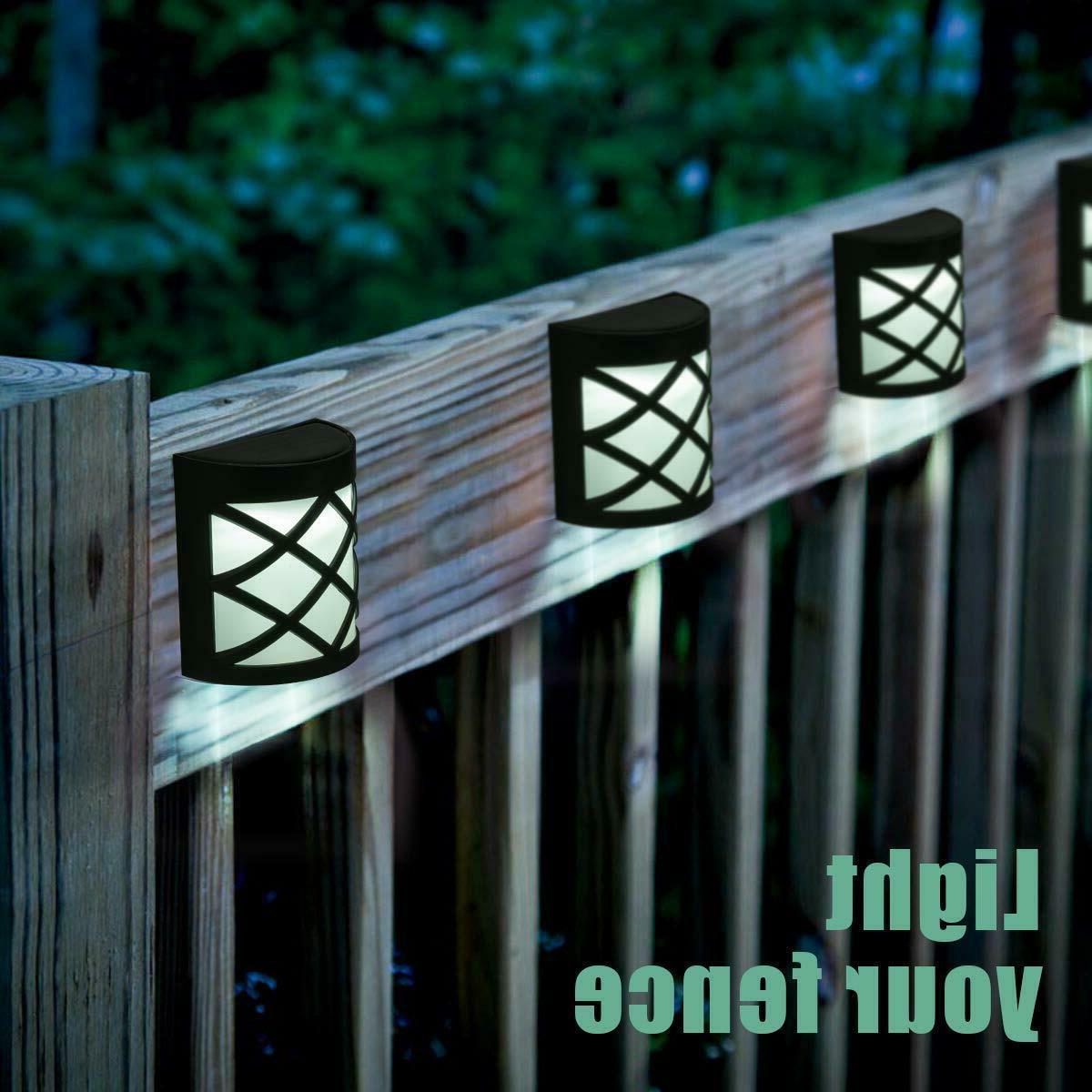 Solar Fence Wall Garden Steps 4Pcs