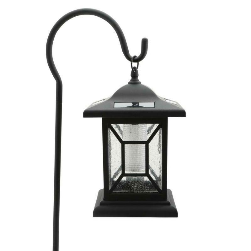 Path Integrated LED Outdoor Lantern Shepard Black