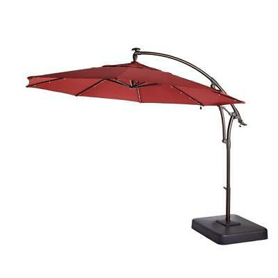 patio umbrella 11 ft led round offset
