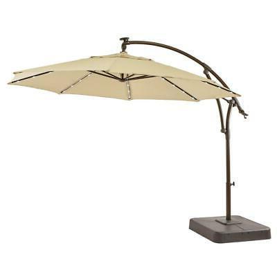 patio umbrella 11 ft solar powered led