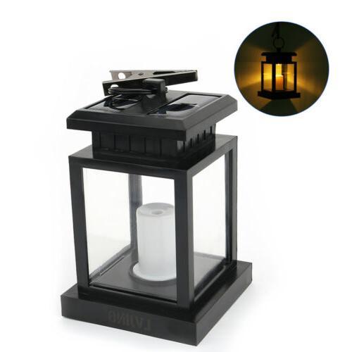 4x LED Hanging Candle Lights Waterproof Warm White Lantern