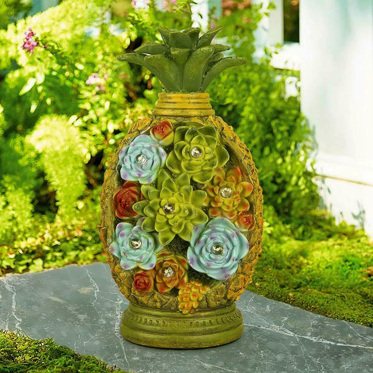 GIGALUMI Statues Solar Light Resin Outdoor