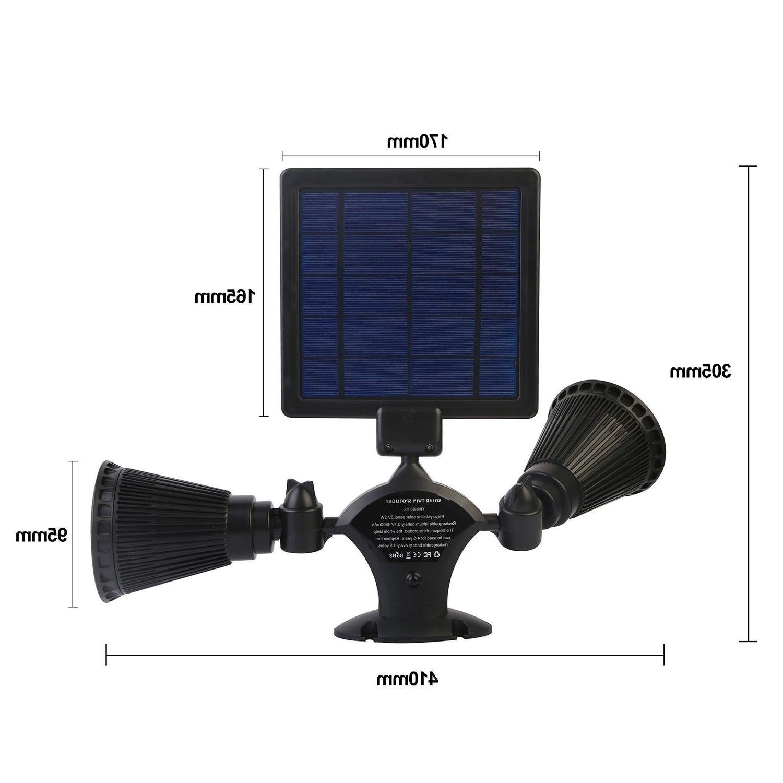 PIR Motion Sensor Lights 12LEDs Dual Head Spotlights Waterproof