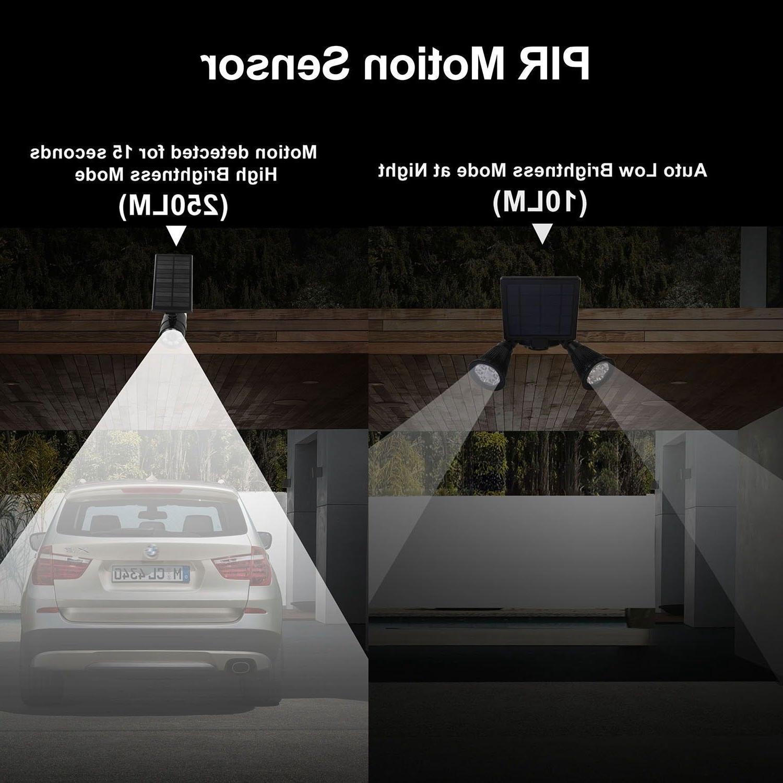 PIR Lights 12LEDs Dual Spotlights