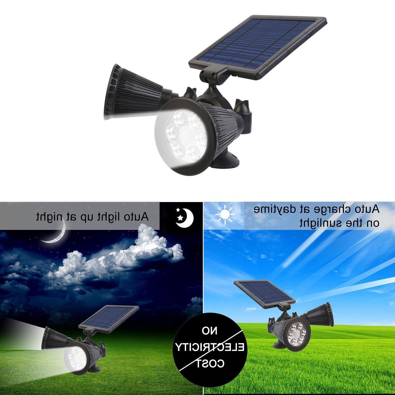 PIR Lights Dual Head Spotlights Outdoor Waterproof