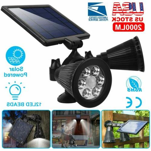 pir motion sensor solar lights 12leds dual