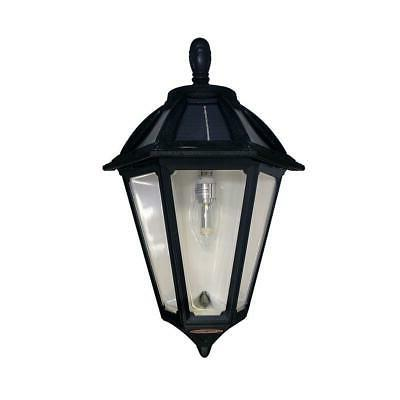 polaris sconce 1 light black outdoor led