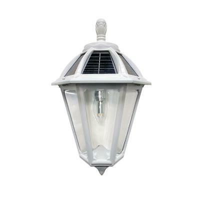 polaris sconce 1 light white outdoor led