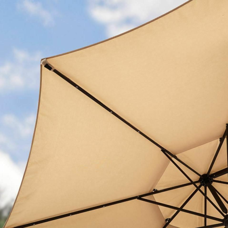 Pool Umbrella Offset Patio Base Adjustable Large