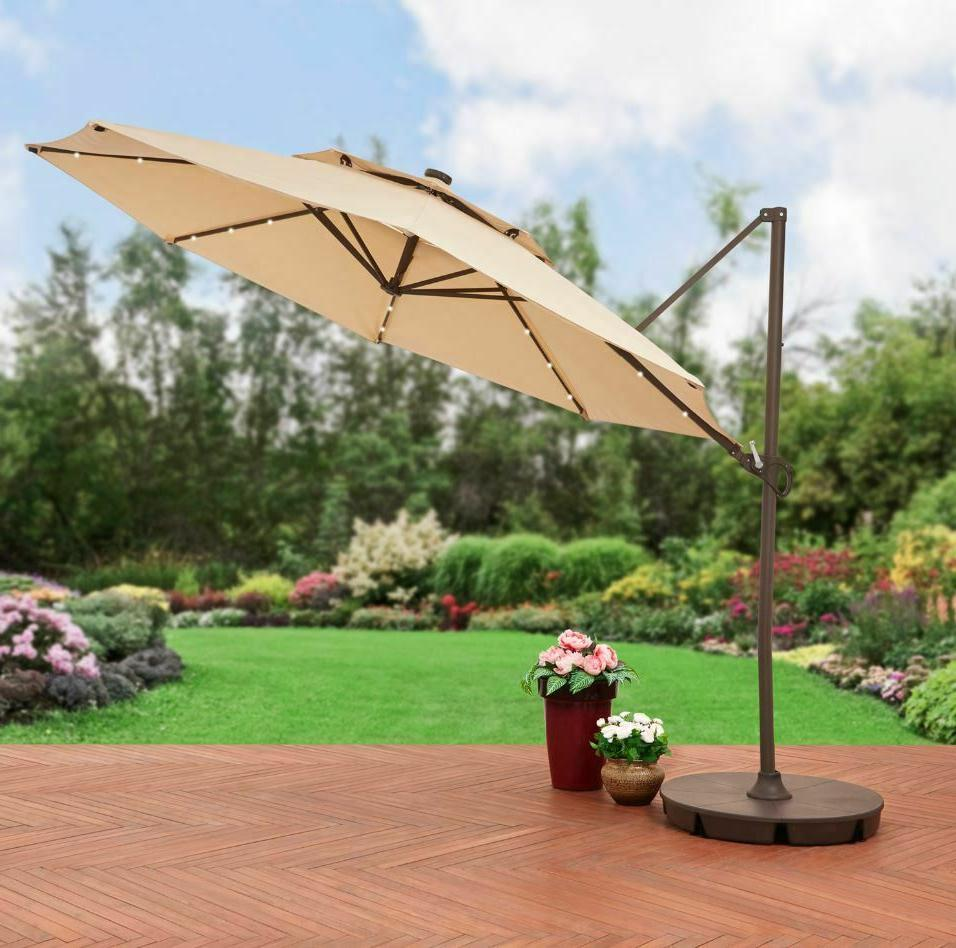 pool umbrella with lights offset patio 11ft