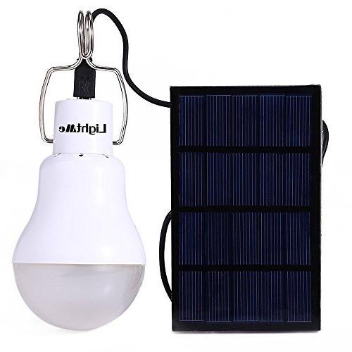 portable solar powered bulb light