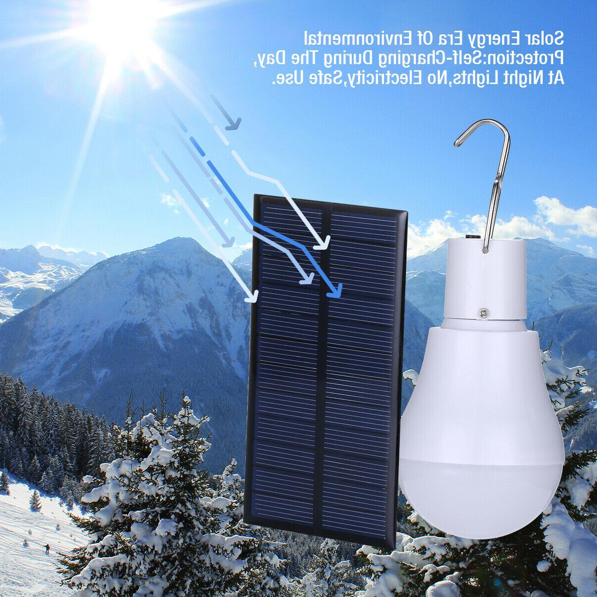 15W Solar Panel LED Portable Bulb Outdoor Indoor
