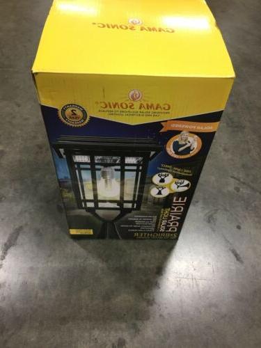 Gama Sonic Black Outdoor Solar Post