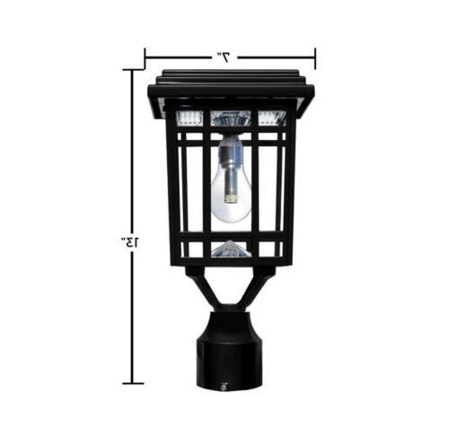 Gama Sonic Black LED Outdoor Solar Post Light
