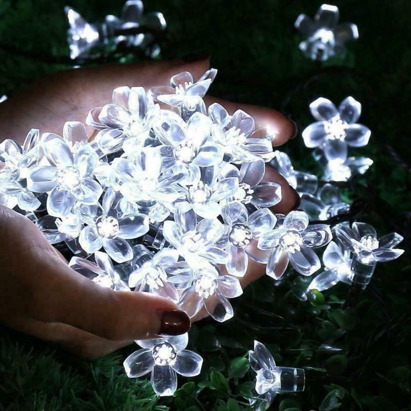 Qedertek Solar String Lights Fairy Garden Blossom Christmas