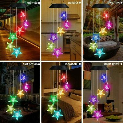 Retro Solar Powered Chimes Color Changing Led Light Outdoor US