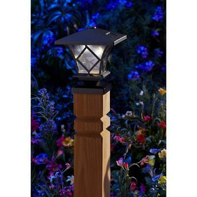 Moonrays Ridgely Solar Black Outdoor Integrated Post Cap Light