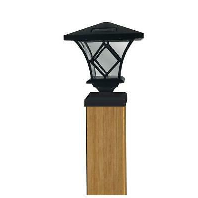 ridgely style solar black outdoor integrated led