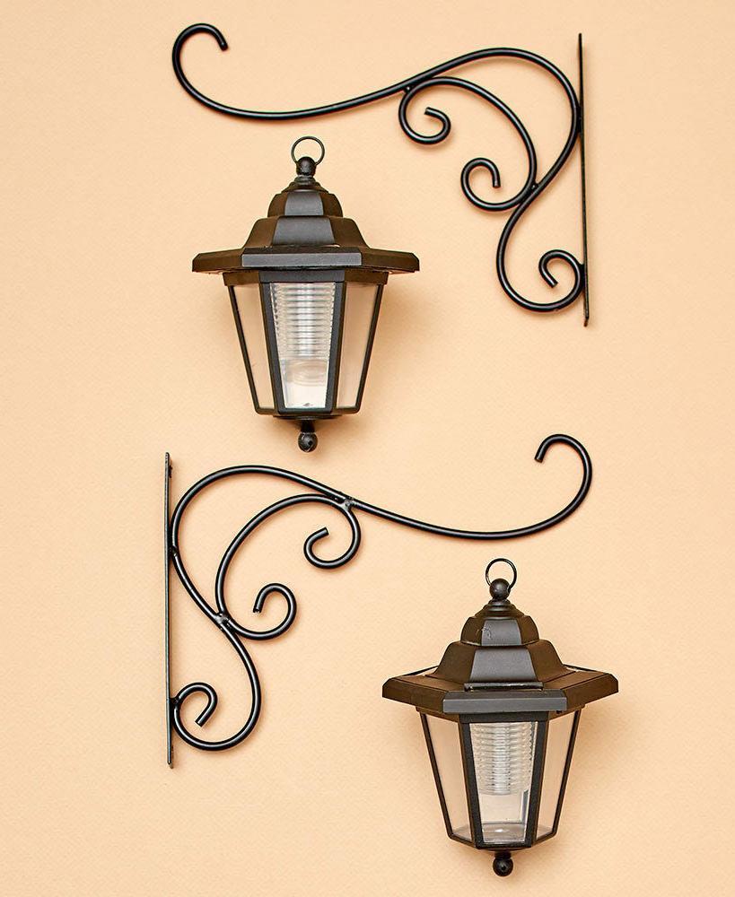 Set of 2 Lanterns Brackets Fence