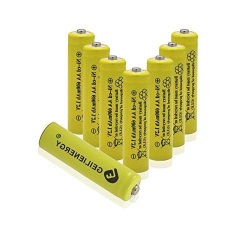 set yellow aa rechargeable battery