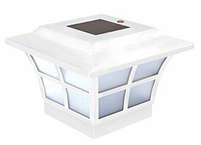 sl079w 4x4 white pvc prestige solar post