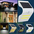 Smart COB LED Solar Power PIR Motion Sensor Wall Light Outdo