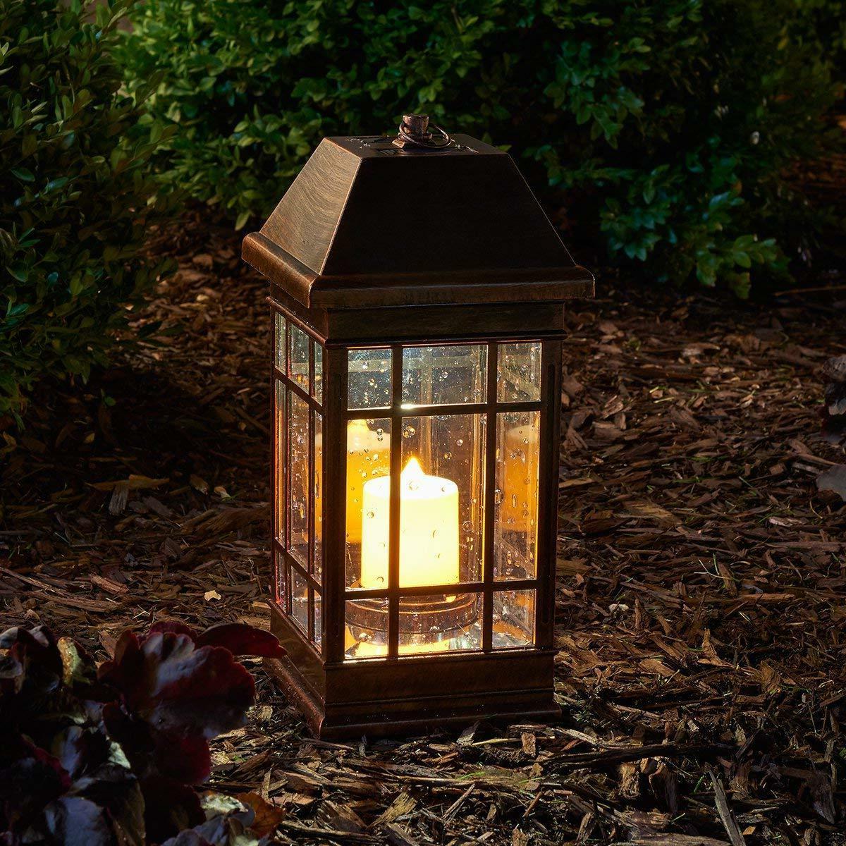 "San Rafael II 15"" LED Solar Mission Lantern - Smart Living"