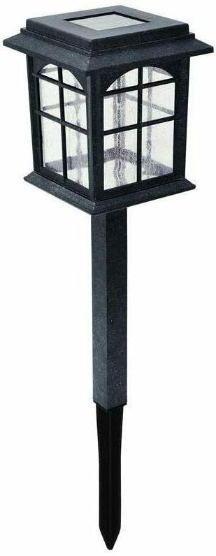 Hampton Bay Solar Black Outdoor Integrated LED Square Landsc
